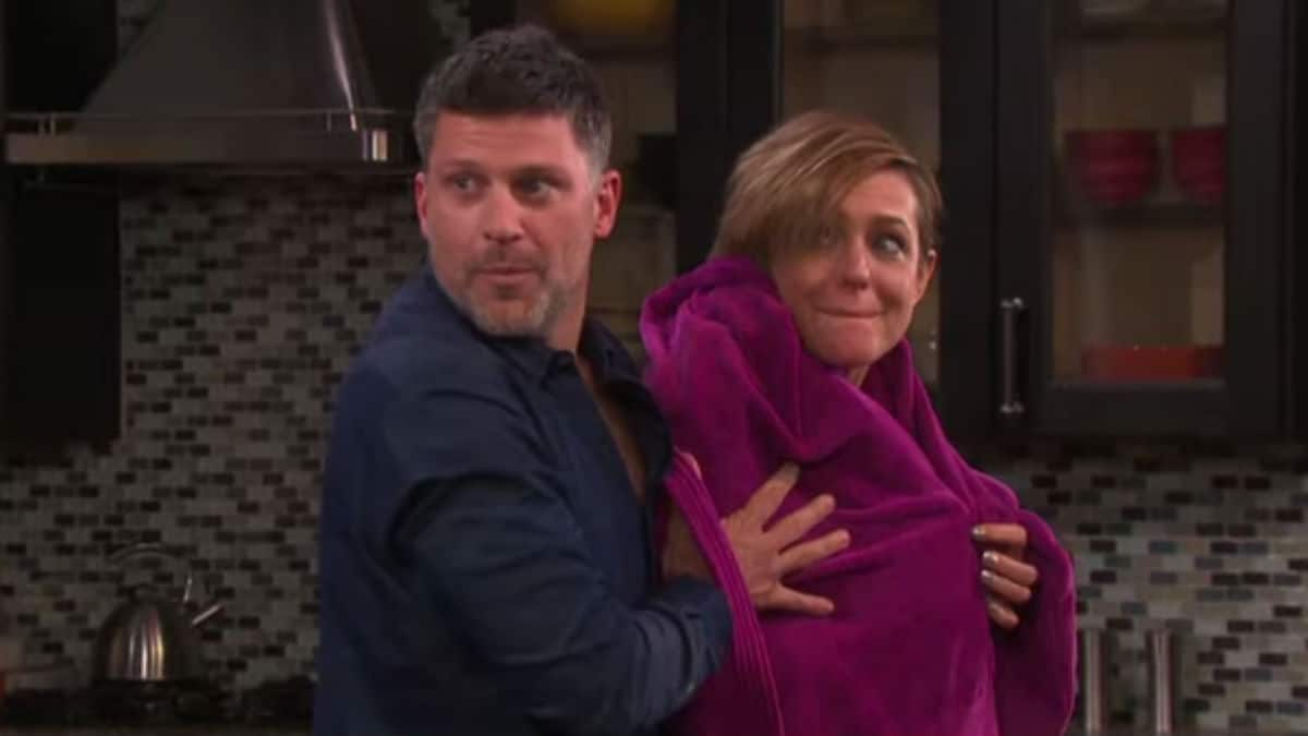 Greg Vaughan and Arianne Zuck as Eric and Nicole on Days of our Lives.