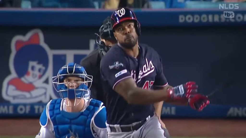 Howie Kendrick's grand slam: Former Dodgers star helps Nationals win first playoff series, advance to NLCS