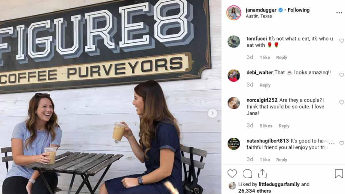 Jana Duggar gets comments on Instagram.