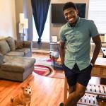 Jawan M. Jackson With Dog