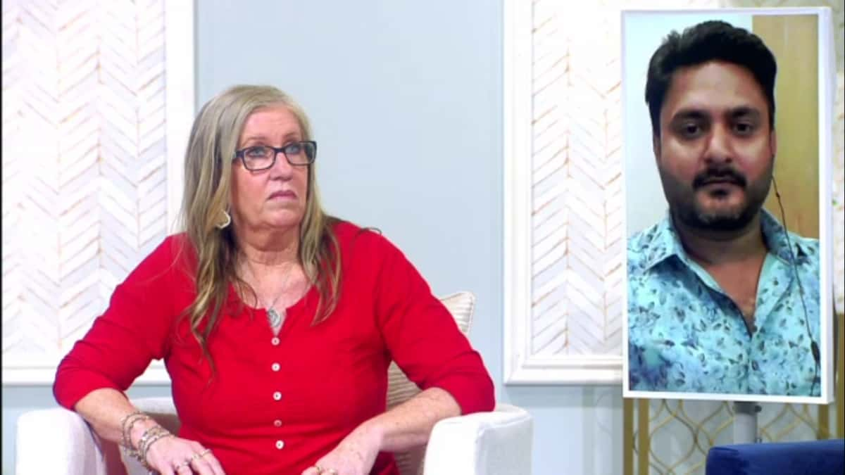 Jenny and Sumit at the 90 Day Fiance: The Other Way Tell ALl