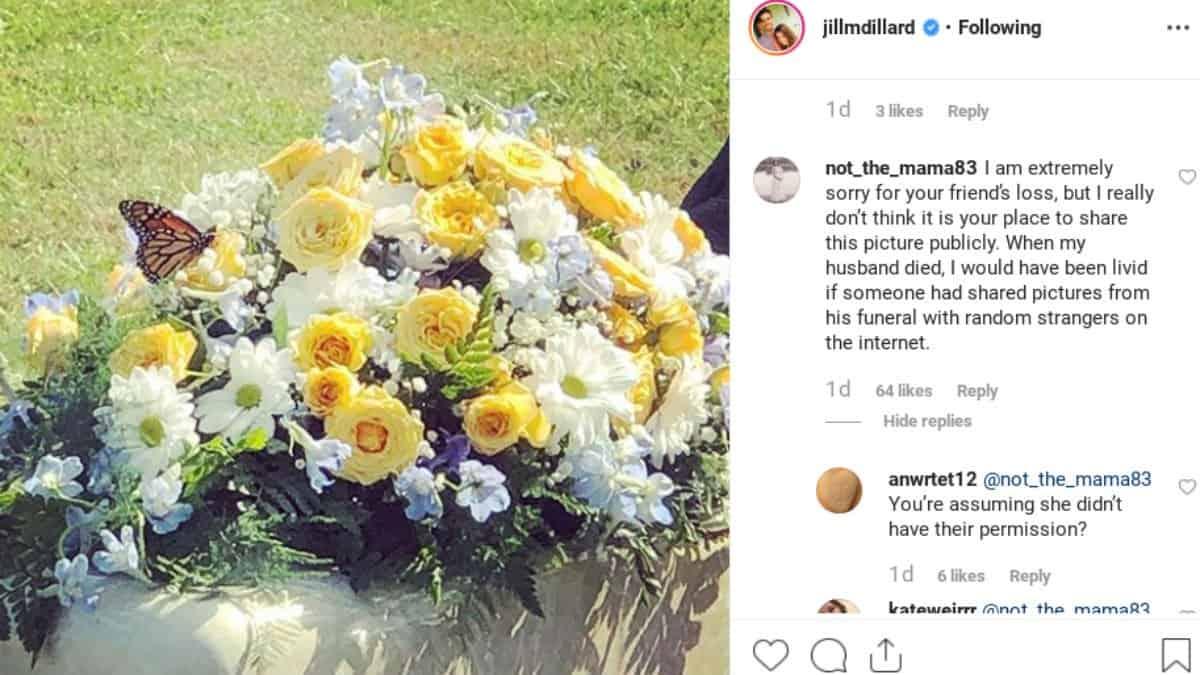 Fans outraged over Jill Duggar's Instagram photo.