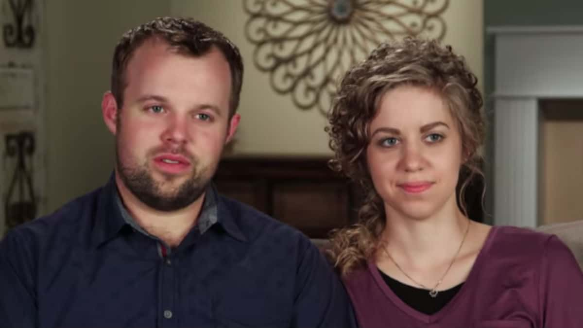 John-David Duggar and Abbie Grace Burnett in a Counting On confessional.