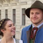 Lauren and Josiah during their honeymoon in Vienna.