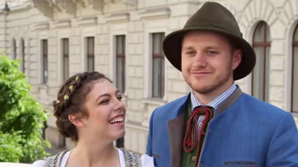 Lauren and Josiah during their honeymoon in Vienna.