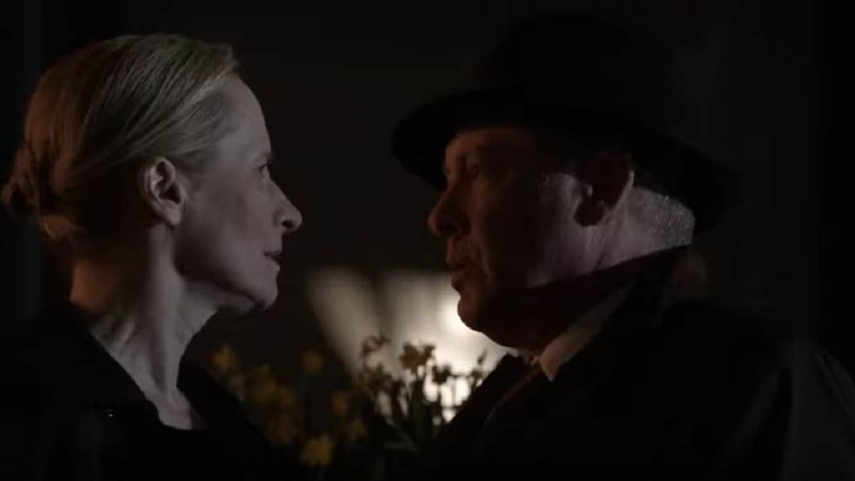 Katarina Rostova and Reddington in The Blacklist