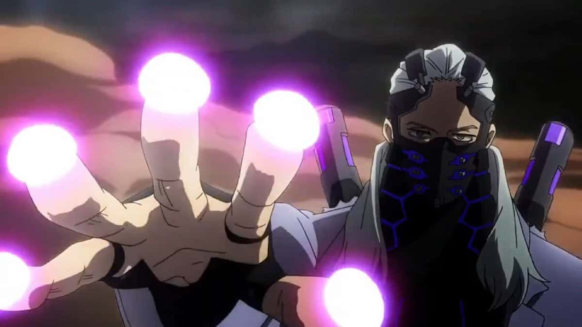 Nine and his jazz hands in the 2nd My Hero Academia movie