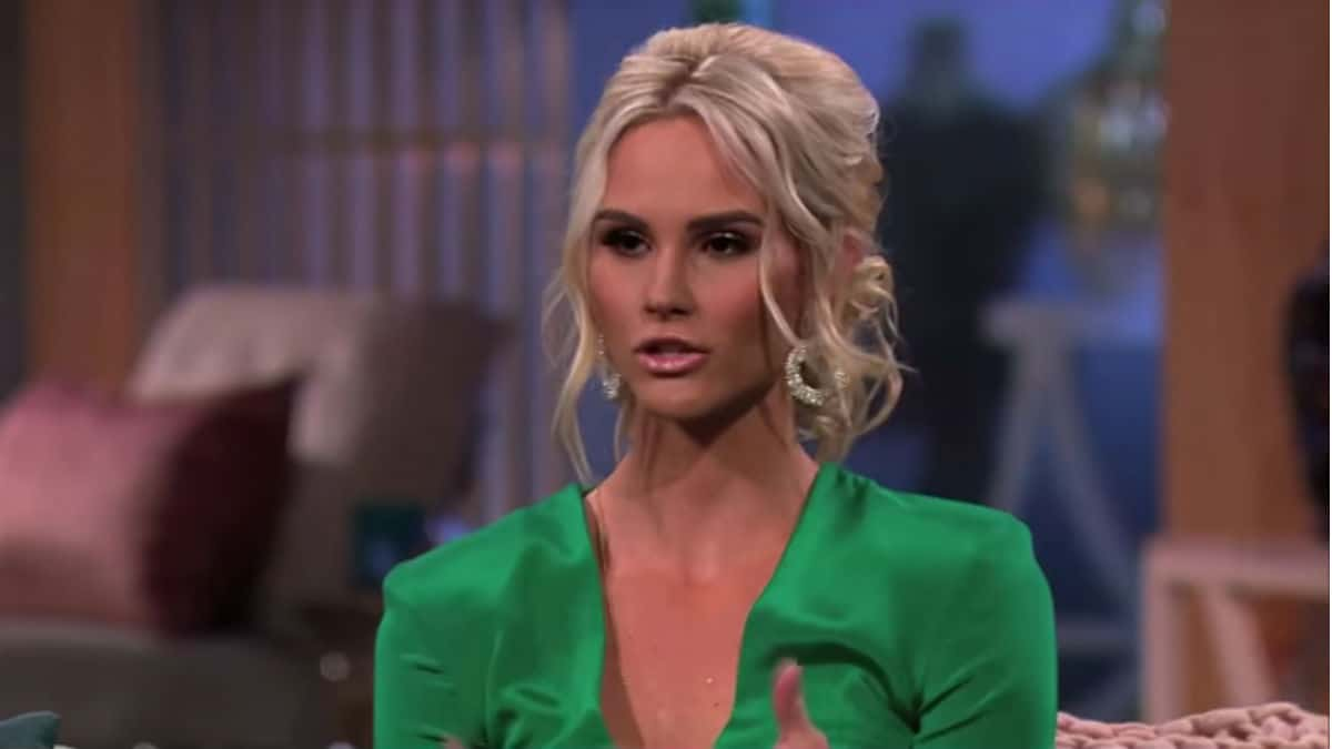Meghan King Edmonds during the RHOC Season 12 reunion.