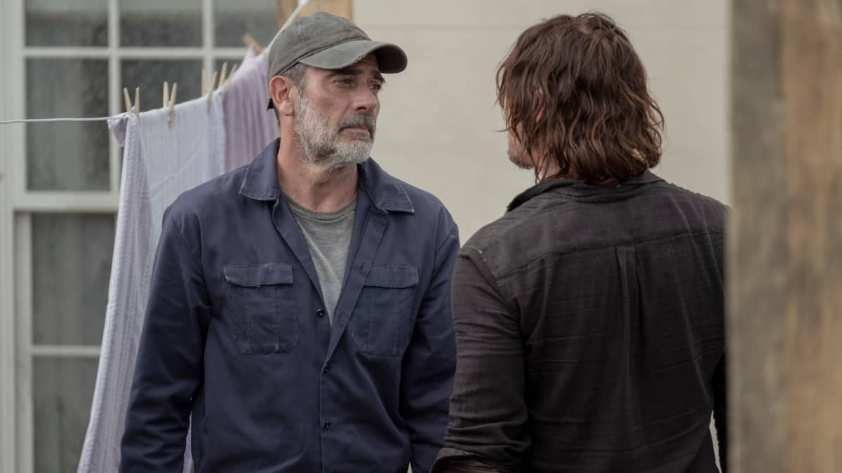 Jeffrey Dean Morgan as Negan and Norman Reedus as Daryl Dixon
