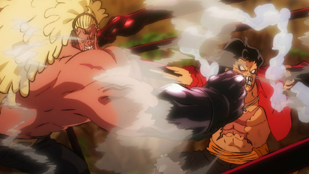 One Piece Stampede Douglas Bullet vs Luffy