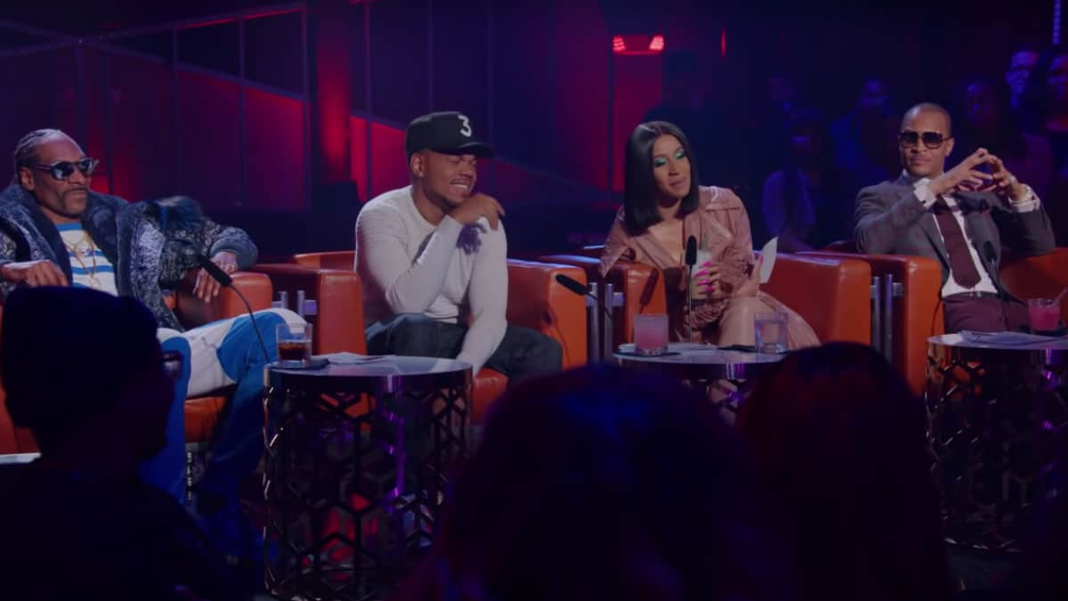 Snoop Dogg, TI, Chance the Rapper, and Cardi B from Rhythm + Flow