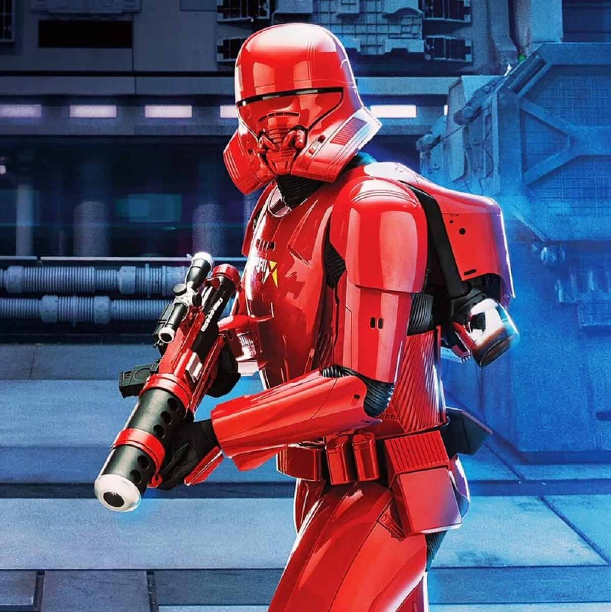 Sith Jet Trooper from the Topps trading cards