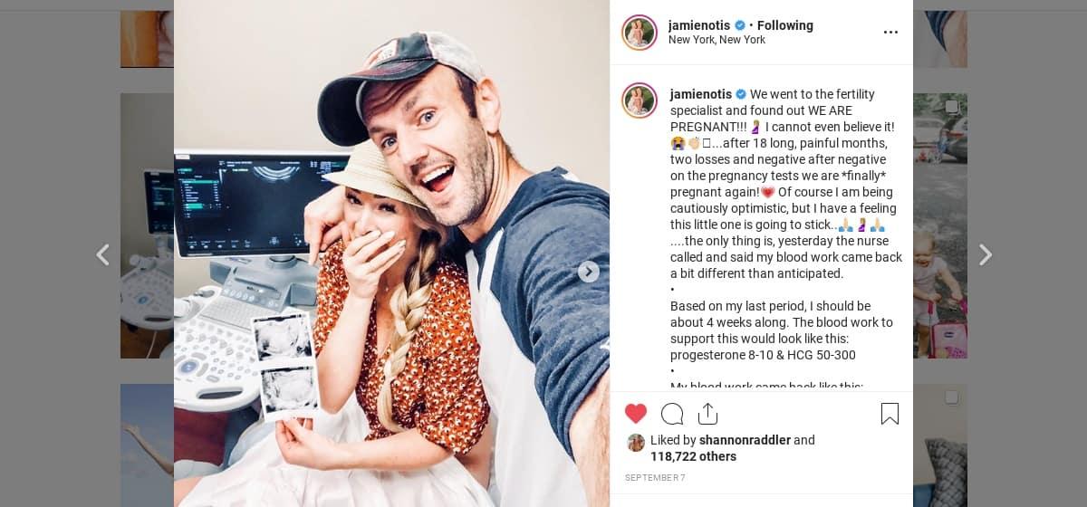 Jamie's Instagram post