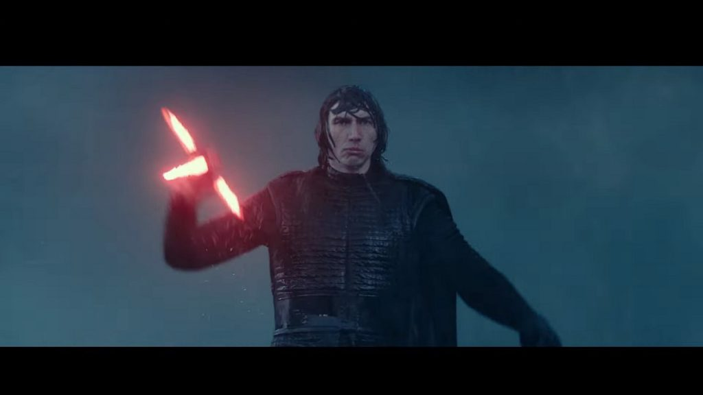 Kylo Ren rises from the sea