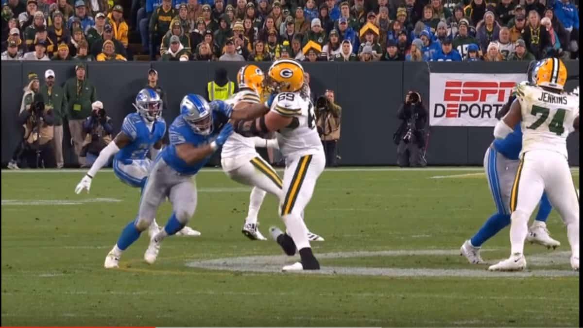 Trey Flowers vs Packers