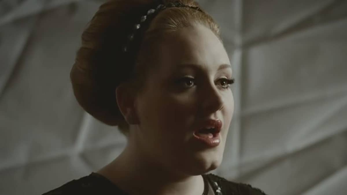 In a still grab from her breakout hit video, we see the exquisite face of Adele who is breathtakingly beautiful. Pic credit: EMI Music/YouTube