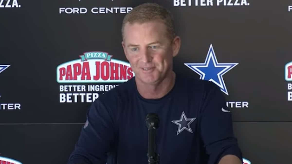 cowboys head coach jason garrett speaks to media after win over eagles