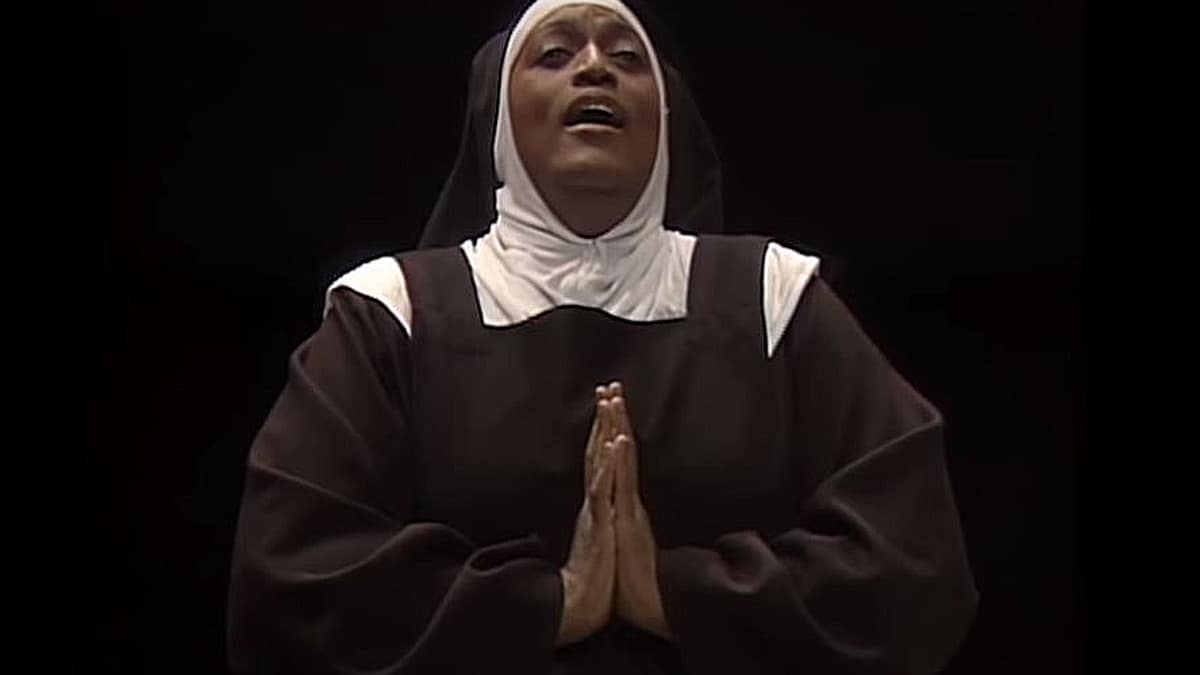 A still from Jessye Norman as Madame Lidoine in the Act II Ave Maria from Poulenc's Dialogues des Carmélites from 1987. Pic credit: YouTube/Metropolitan Opera