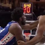 joel embiid fights with karl anthony towns during nba game on oct 30