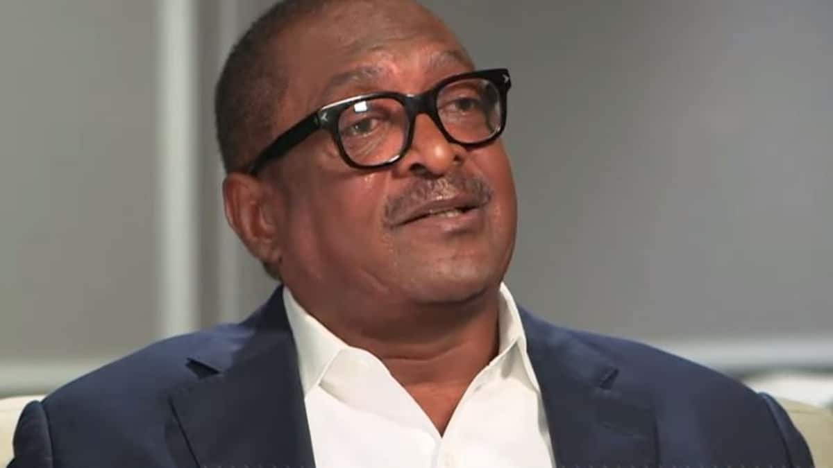 Matthew Knowles is lucky to be alive and shares his journey finding out he had breast cancer on GMA, a still from his interview with Michael Strahan. Pic credit: GMA