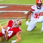 49ers fullback kyle juszczyk hurt during mnf game vs browns