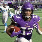 dalvin cook of vikings in madden nfl 20 game
