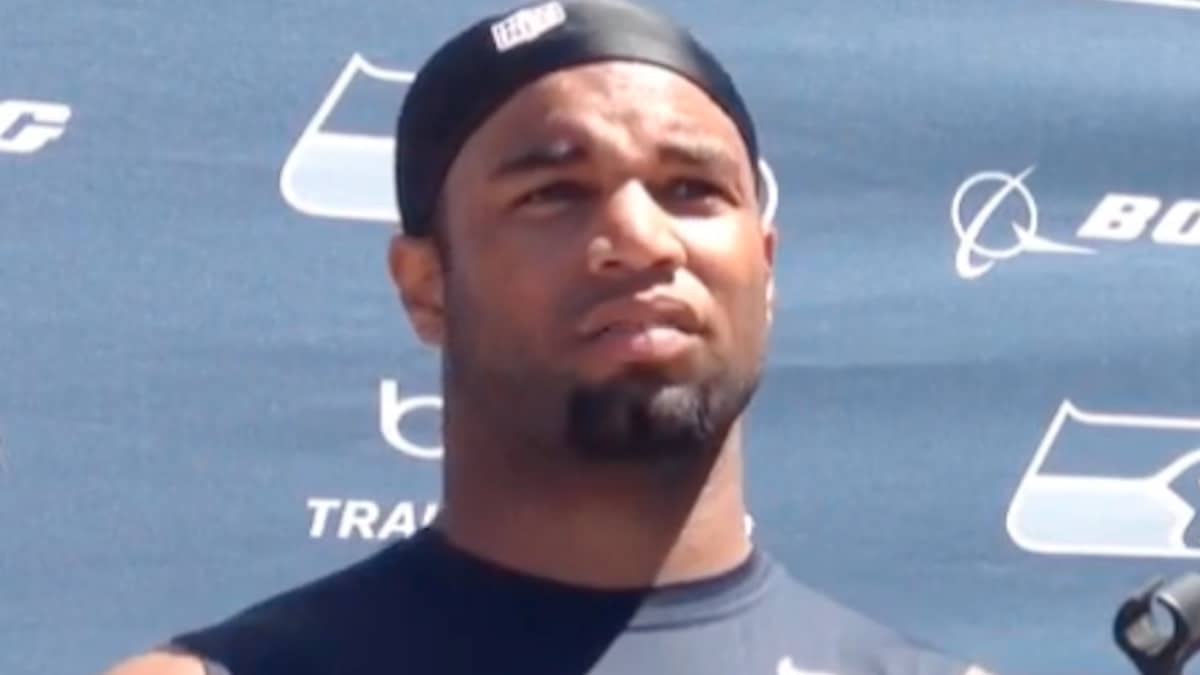 former seattle seahawks receiver golden tate at press conference