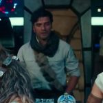 chewbacca poe dameron rey and lando in star wars rise of the skywalker