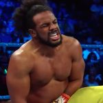 wwe superstar xavier woods of the new day in action