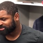 zach brown speaks to media after eagles loss to vikings