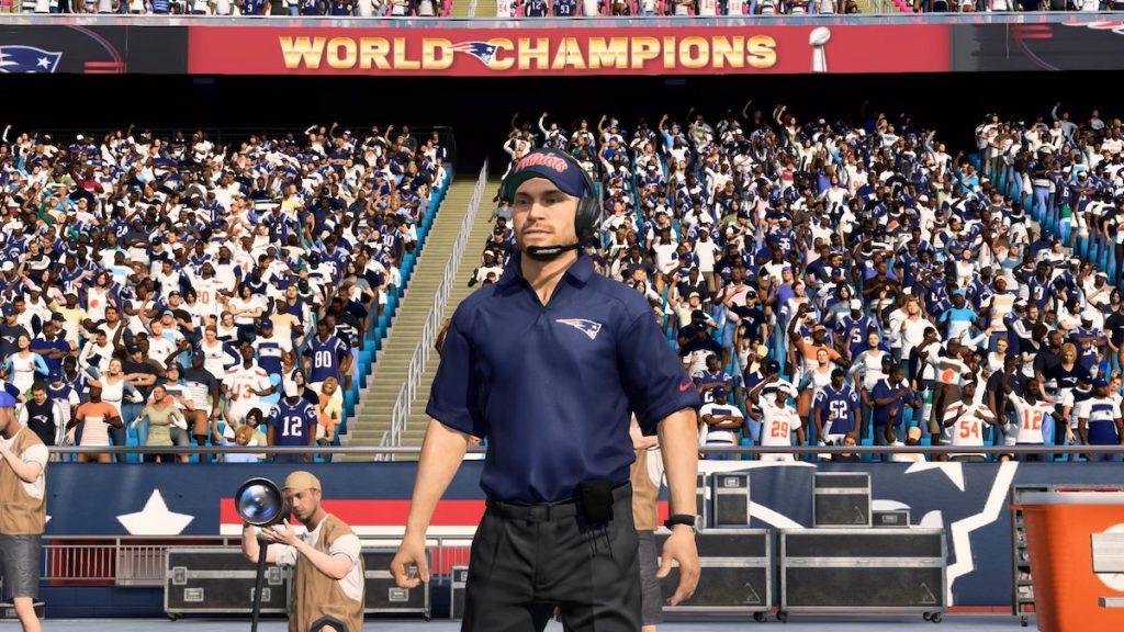 fictional new england patriots coach griffin murphy in madden 20