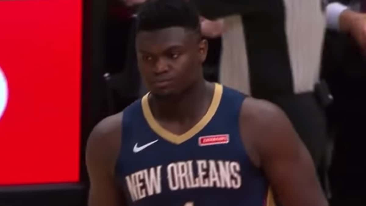 nba rookie zion williamson of the pelicans sidelined with injury
