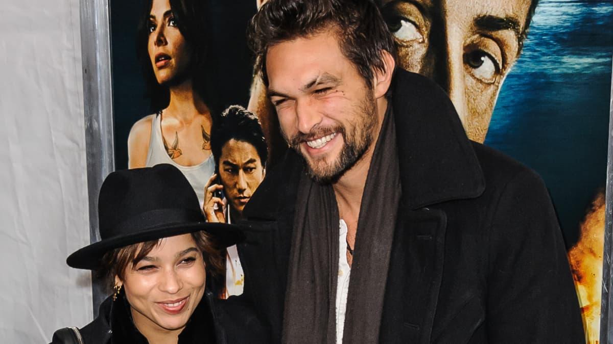 Jason Momoa and Zoe Kravitz at 'Bullet To The Head' World Premiere