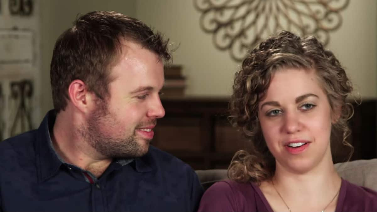 John-David Duggar and Abbie Grace Burnett during a Counting On confessional.