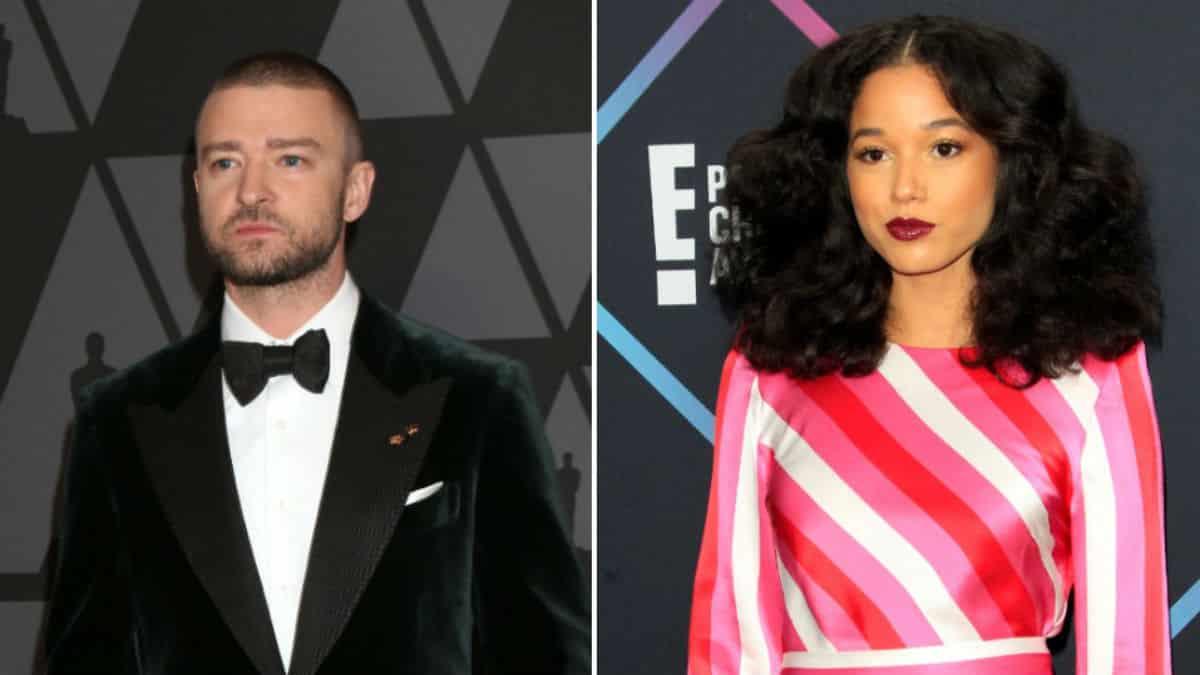 Justin Timberlake hangs out with actress Alisha Wainwright.