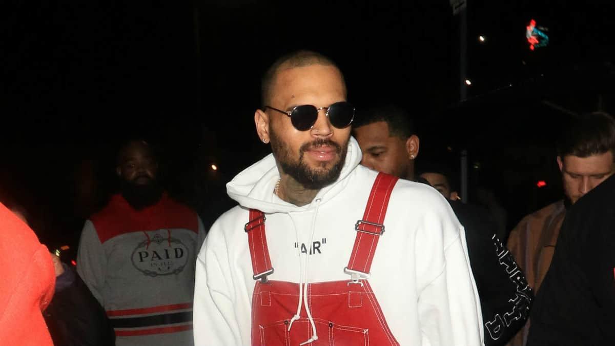 Chris Brown hosts designer yard sale at home drawing ...