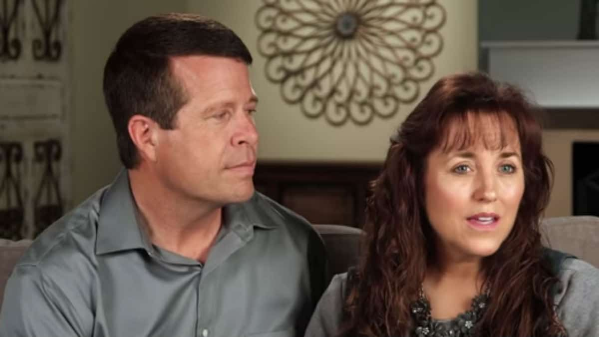 Jim Bob and Michelle Duggar together in a Counting On confessional.