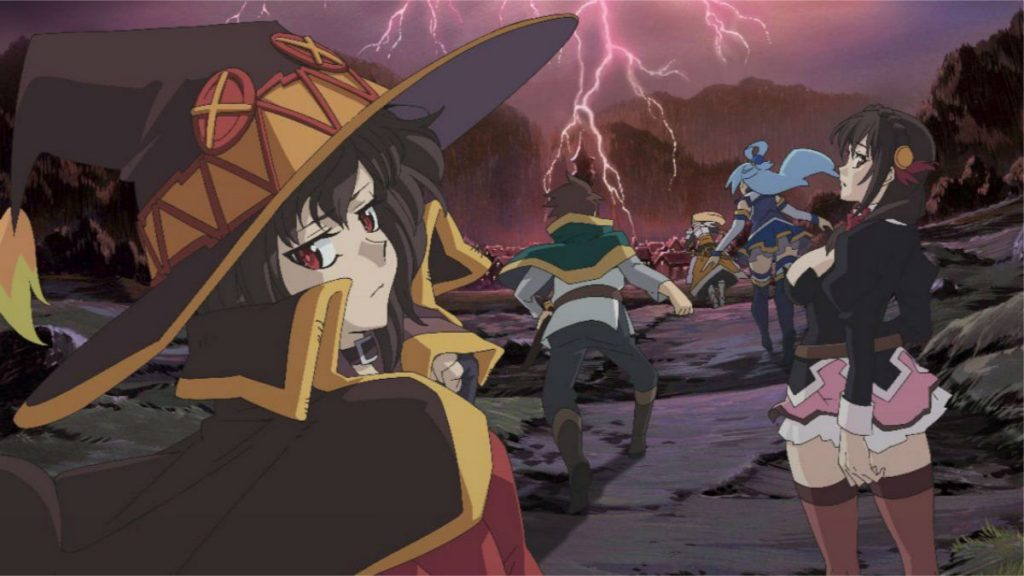 Scene from the KonoSuba: Legend of Crimson movie
