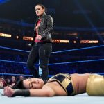 WWE NXT champion Shayna Baszler arrives on SmackDown and lays out Bayley and Sasha Banks