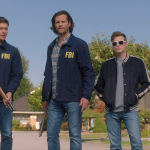 Dean, Sam, and Belphagor face down a ghost in Supernatural season 15. Pic credit: the CW