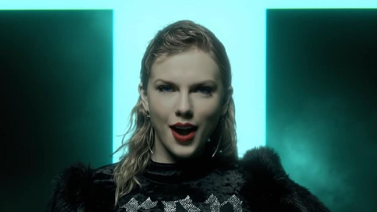 Taylor Swift performs in music video