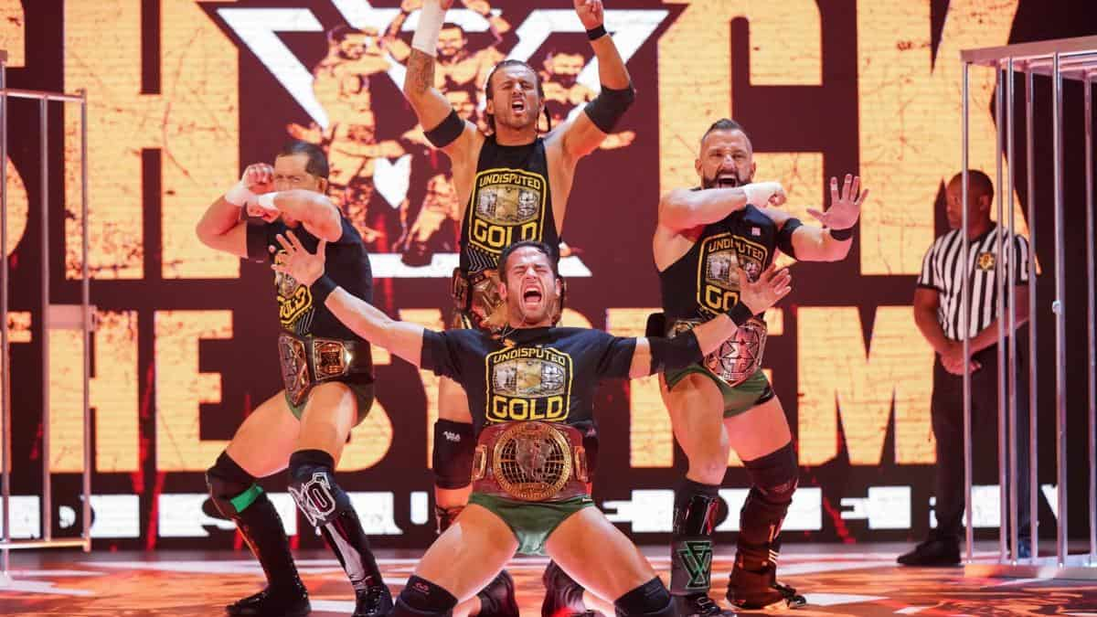 AEW wrestler shown in audience and referenced at WWE NXT TakeOver War Games tonight