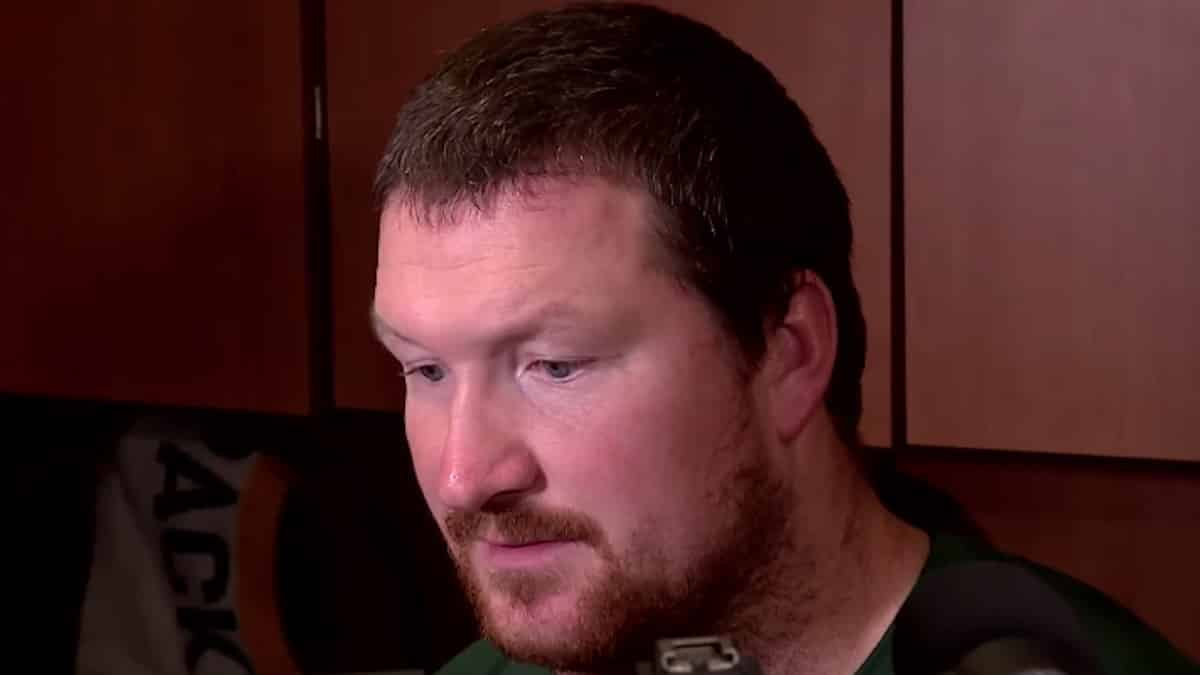 packers tackle bryan bulaga speaking to the media