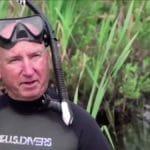 Gary Drayton in the Oak Island swamp