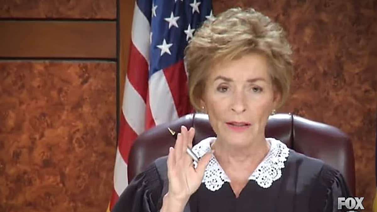 Judge Judy adjudicating a case