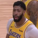 lakers star anthony davis during nba game