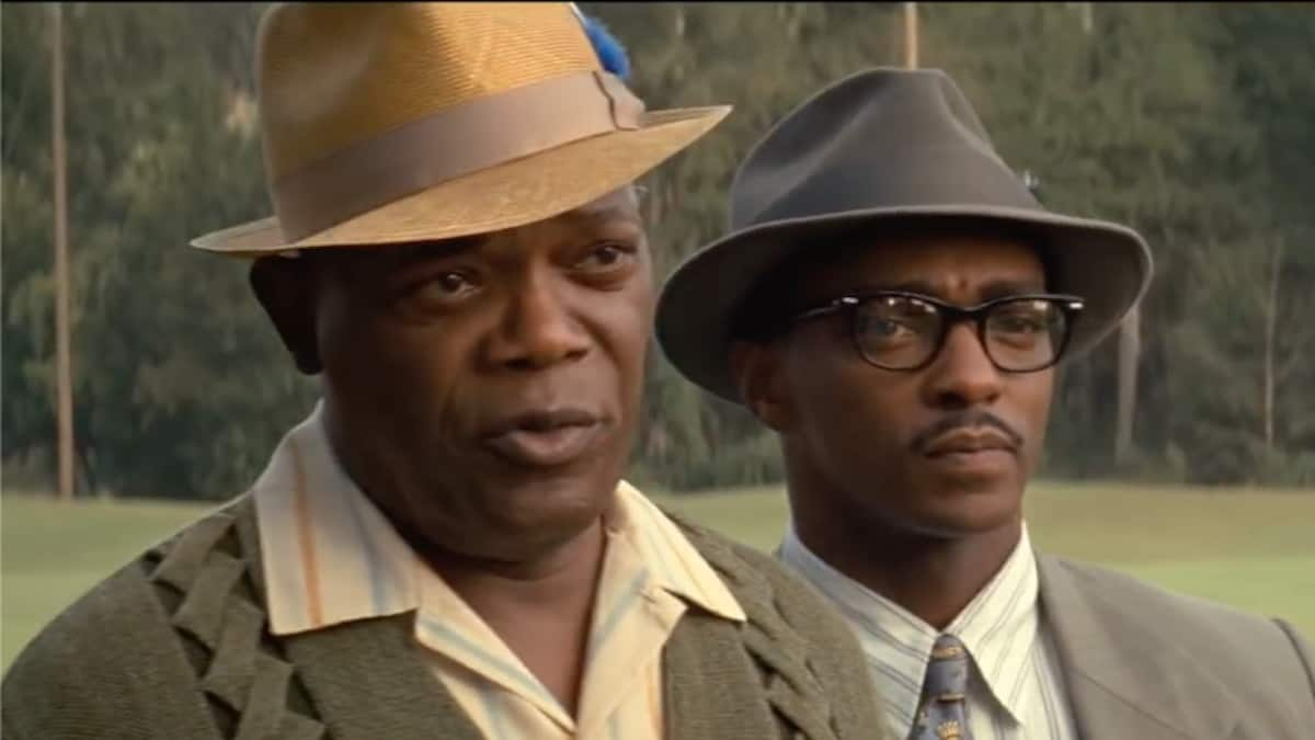 samuel l jackson and anthony mackie in apple tv plus movie the banker