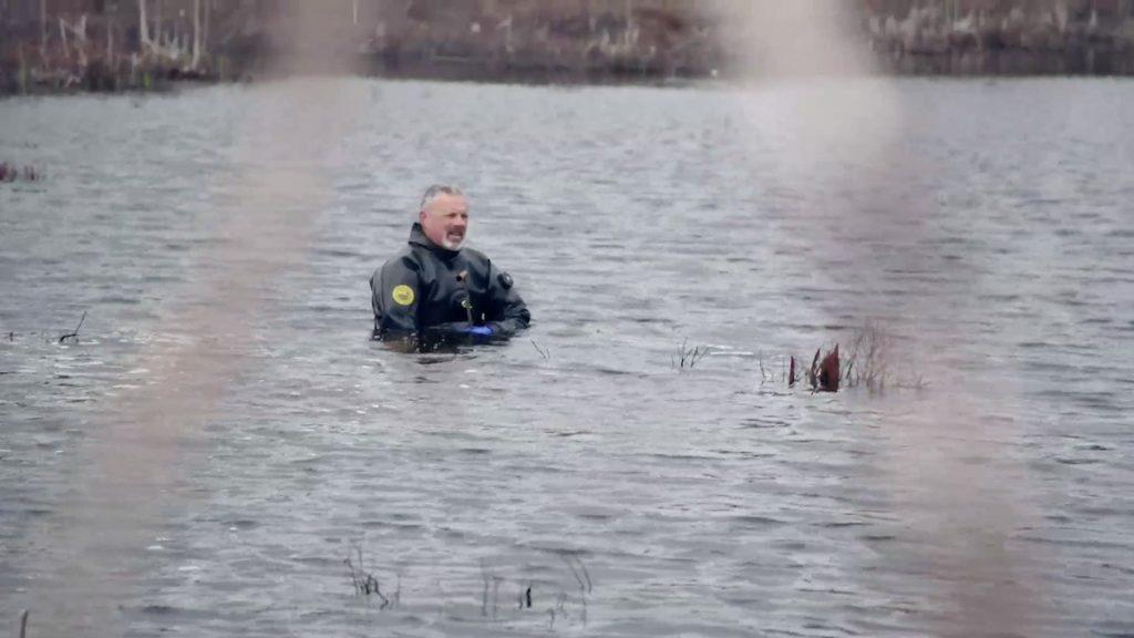 Tony Sampson in the swamp