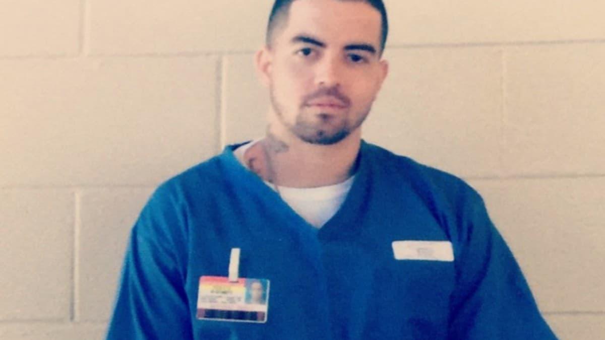 Berny Serrano in prison uniform