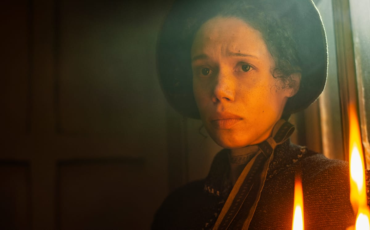 Mary Cratchit is tortured by Pearce's Scrooge and it is hard to watch. Pic credit: FX
